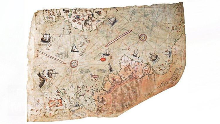 Piri Reis'in haritası 'Dünya Belleği Kütüğü'nde