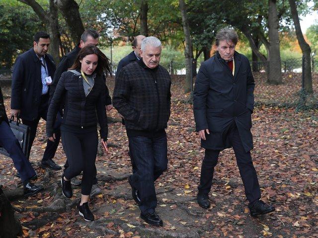 Başbakan Yıldırım Washington'da yürüyüş yaptı