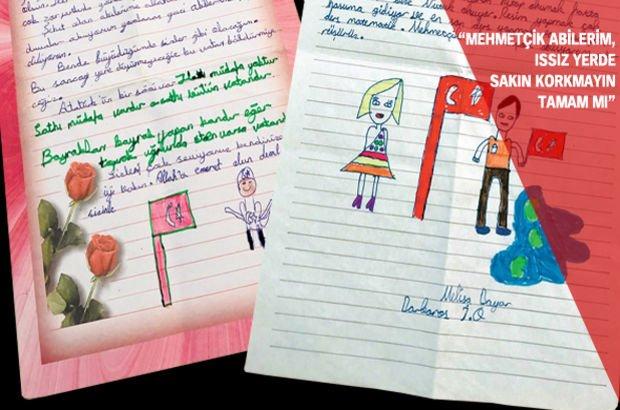 Suriye Türk askerleri İdlib El Bab Azez Cerablus öğrencilerden moral mektubu