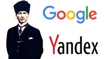 Google ve Yandex'ten Atatürk'e anma