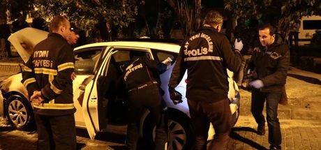 Aydın'da polisin otomobili kundaklandı