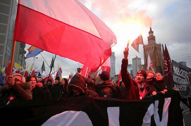 Varşova Polonya ırkçı gösteri