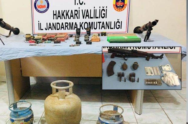 Hakkari'deki terör operasyonunda çok sayıda silah ve mühimmat ele geçirildi