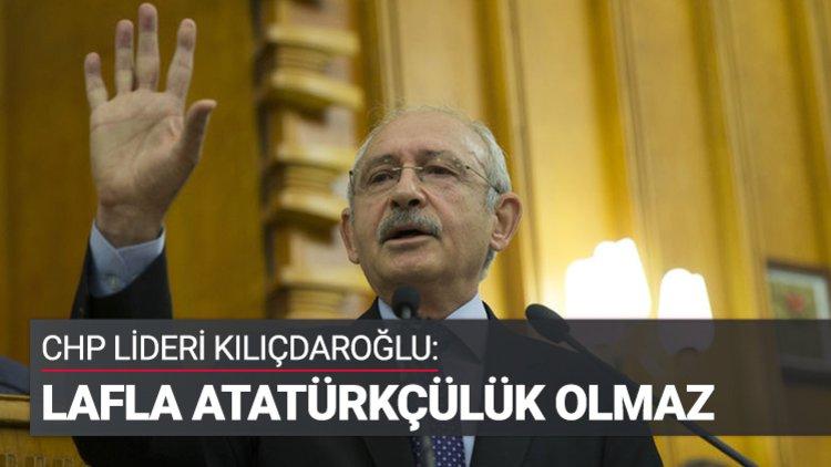 """CHP Genel Başkanı Kemal Kılıçdaroğlu, """"Bugünlerde Gazi Mustafa Kemal Atatürk'e yönelik bir sevgi dalgası var. Bu bizi son derece memnun ediyor"""" dedi."""