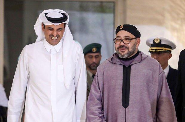 Fas Kralı'nın Katar Emiri'ne destek fotoğrafı 'düzmece' çıktı!