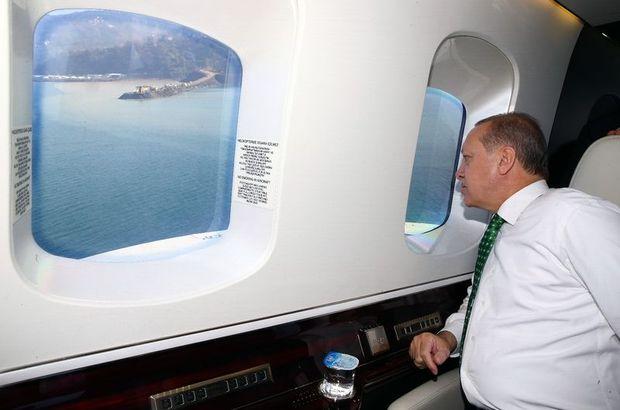 Cumhurbaşkanı Erdoğan, Ayder'i havadan inceledi