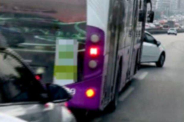 İETT otobüsü bariyerlere çarptı