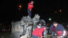 Cumhurbaşkanı Erdoğan'ın koruma ekibini taşıyan minibüs kaza yaptı: 4 yaralı