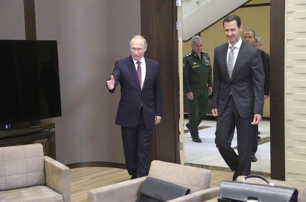 Esad, Rusya'da Putin ile görüştü
