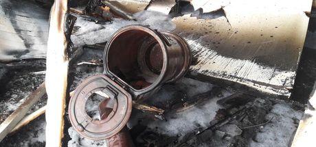 Denizli'de tinerin parlaması sonucu yangın çıktı