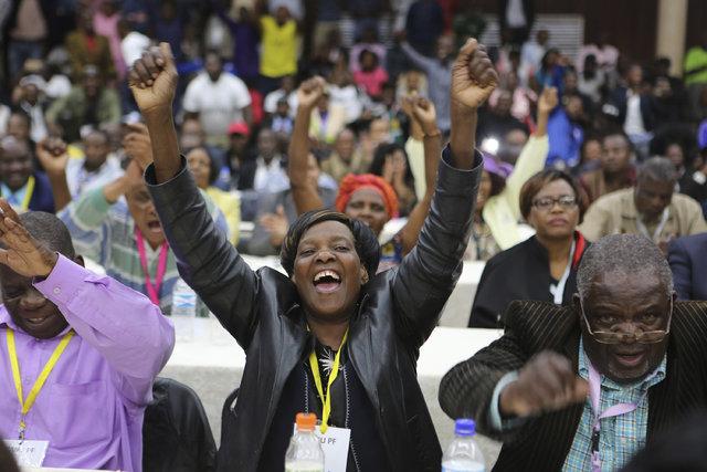 Zimbabve'de Mugabe'nin istifasının ardından halk kutlamalara başladı!