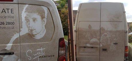 Kirli arabalardan sanat eserleri ortaya çıkarıyor