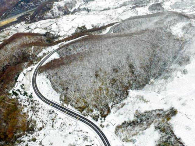 Yurttan kartpostallık kar görüntüleri
