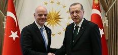 Cumhurbaşkanı Erdoğan, Infantino'yu kabul etti