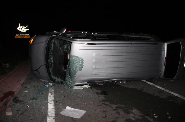 AK Partilileri taşıyan minibüs ile otomobil çarpıştı! Çok sayıda yaralı var