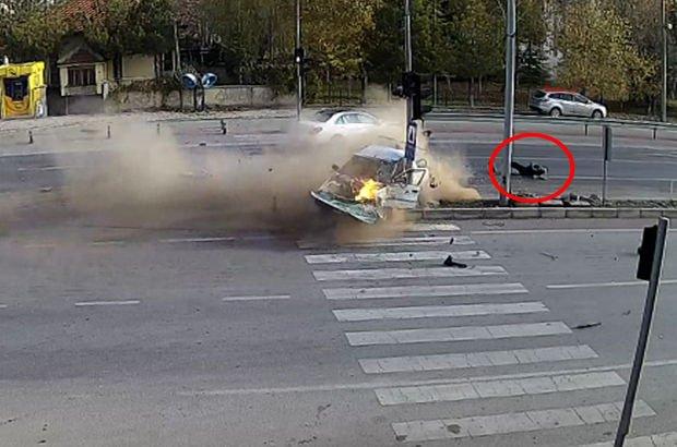 Otomobil sürücüsü araçtan böyle fırladı!