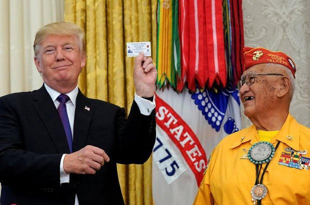 Beyaz Saray'da Amerika yerlilerine 'ırkçı' söylem!