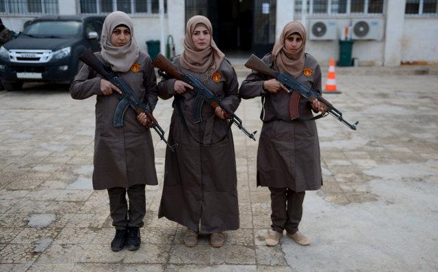 Fırat Kalkanı bölgesinin kadın polisleri