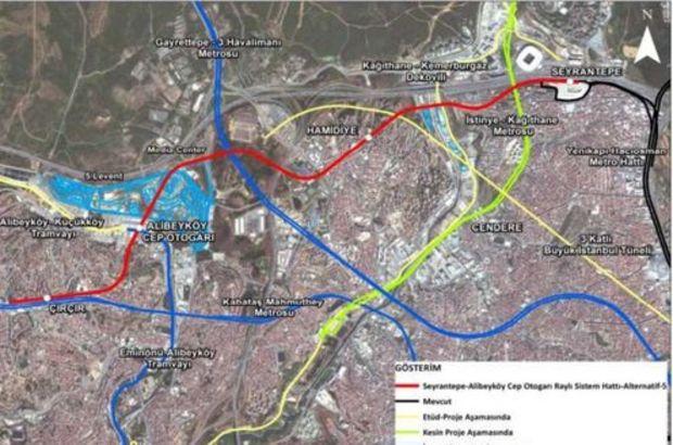 Seyrantepe Alibeyköy cep otogarı metro güzergahı belli oldu