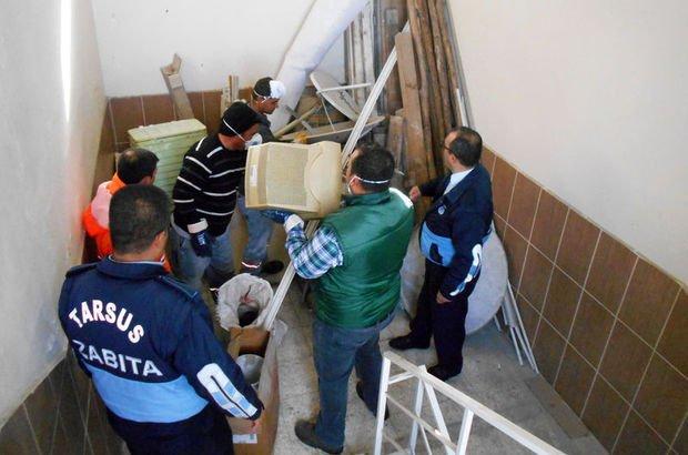 Mersin'de çöp ev operasyonu