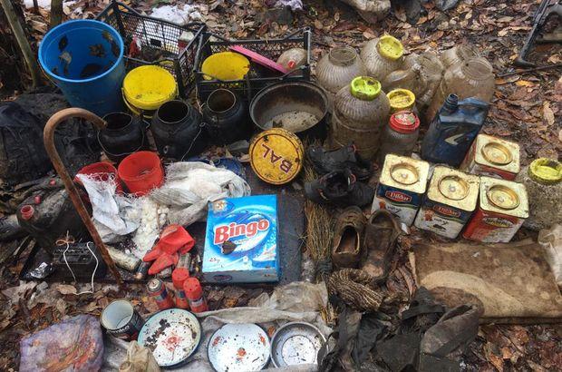 PKK sığınaklarında gıda ve yaşam malzemeleri bulundu