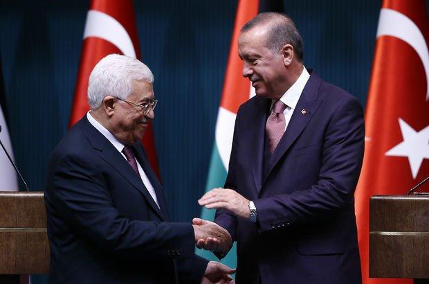 Cumhurbaşkanı Erdoğan Filistin Devlet Başkanı ile telefonda görüştü