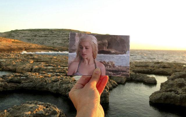 Game of Thrones'un çekildiği aynı yerlere gitti