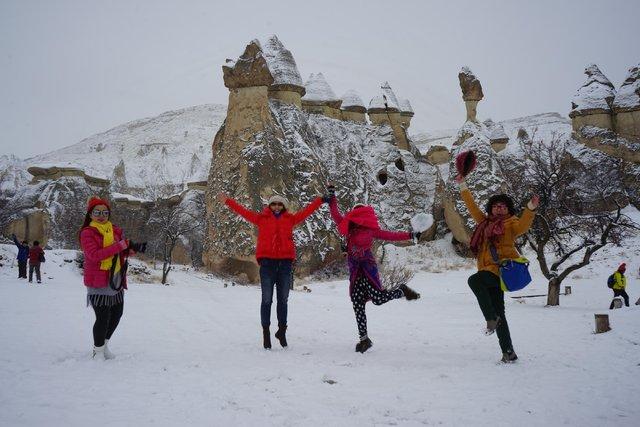 Kapadokya'da kar yağdı mı?