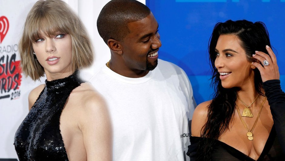 Kim Kardashian, Taylor Swift, Kanye West