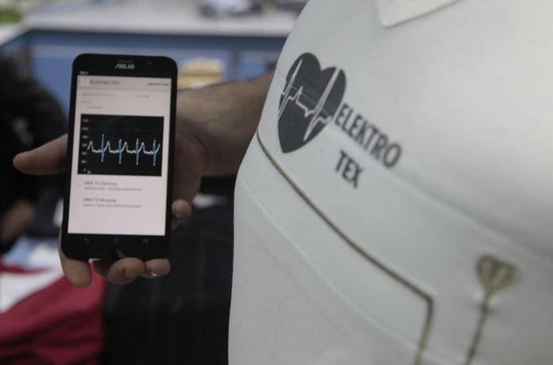 Kalp ritmini ölçen akıllı tişört