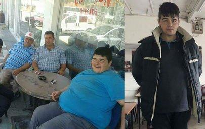 Sevdiği kız için 3 yılda tam 102 kilo verdi