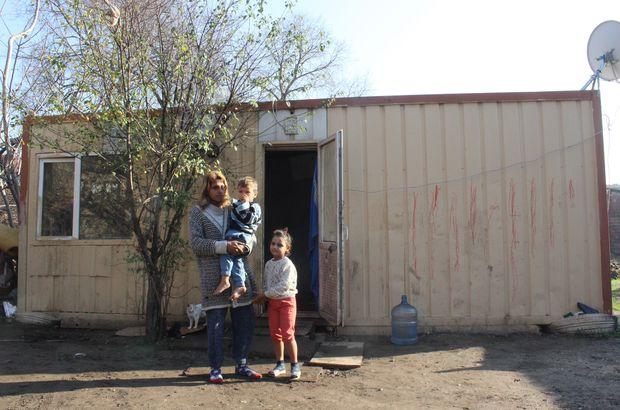 7 kişilik aile barakada hayatta kalma mücadelesi veriyor