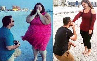 ABD'li obez çift birlikte 200 kilo verdi!