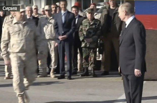 Rus komutan Putin'in yanına gitmek isteyen Esad'ı durdurdu!