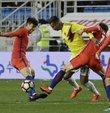 Güney Kore ile yaptıkları hazırlık maçında ırkçı harekette bulunduğu gerekçesiyle Kolombiyalı Cardona
