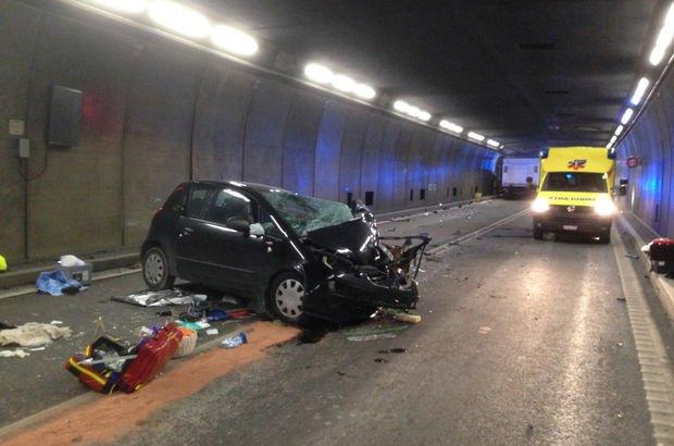 İsviçre'de tünelde trafik kazası: 2 ölü, 4 yaralı