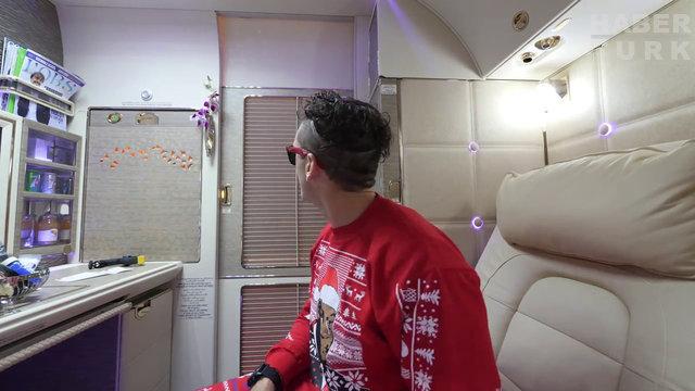 Fenomen Youtuber Emirates'in First Class kabininde drone uçurdu