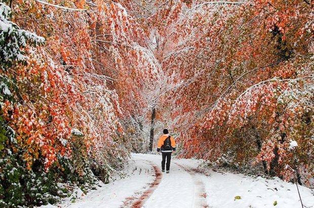 Sonbahar ve kışın renkleri birleşti!