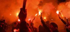 Galatasaray'a coşkulu karşılama!