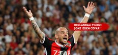 Sneijder menajeriyle haber yolladı!