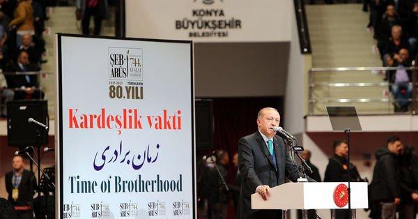 Cumhurbaşkanı Erdoğan Mevlana'nın 744. Vuslat Yıldönümünde konuştu