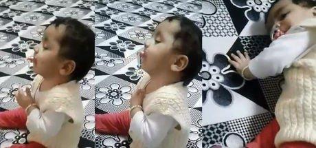 Kendi kendini uyutan bebek sosyal medyada fenomen oldu!