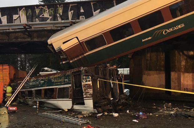 ABD'de feci kaza! Tren raydan çıktı