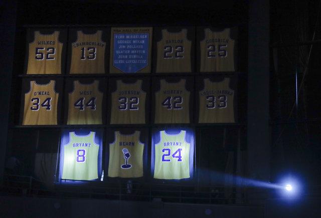 Kobe Bryant'ın forması emekli edildi