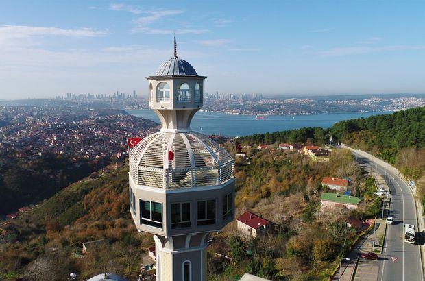 Beykoz Karlıtepe Merkez Camii'nin minaresindeki seyir terasının muhteşem manzarası