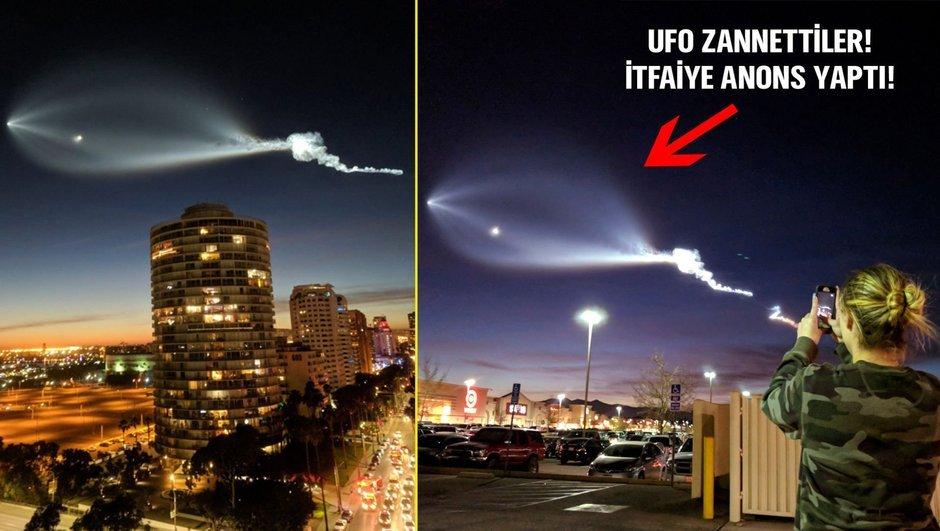 Gökyüzündeki görüntüyü görenler şoke oldu!