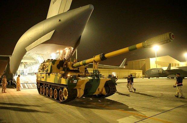 TSK Katar'daki El Udeyd Hava Üssü'ne ulaştı