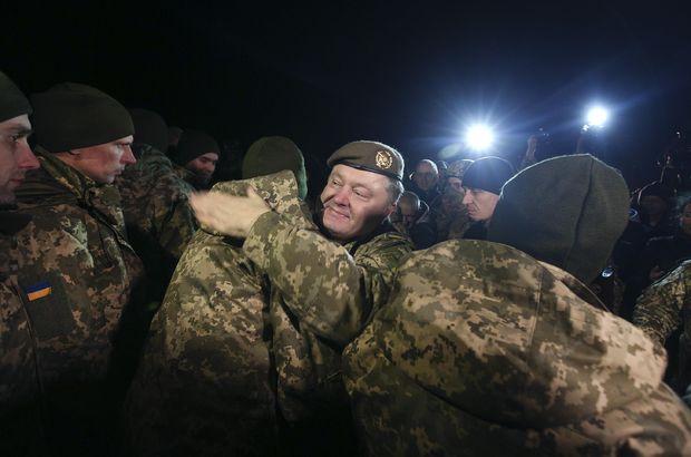 Ukrayna'nın doğusunda esir değişimi: Poroşenko karşılamaya gitti!
