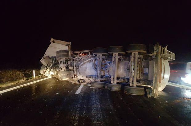 Tanker devrildi, tonlarca yakıt yola döküldü