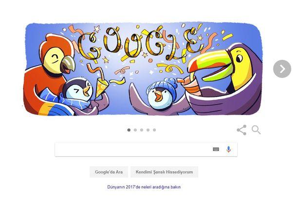 Google'dan yılın son günü için Doodle!